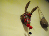 cabeza de burro decorativa artesanal
